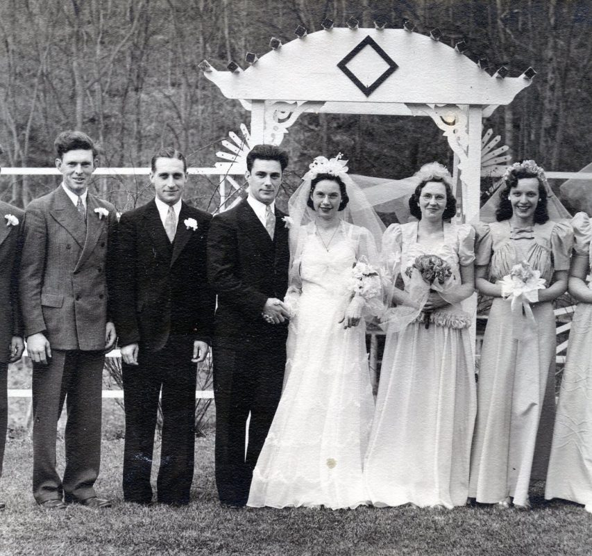 Albany Wedding Videographer, A wedding photo from 1942