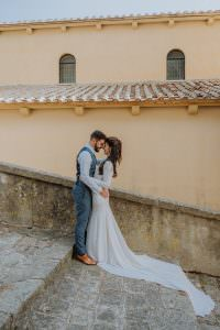Wedding Videographer NY in Italy for romantic elopement in old city