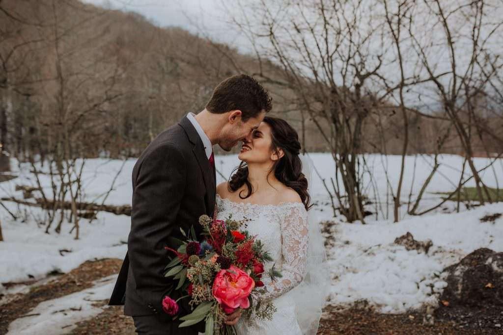 Full Moon Resort Wedding in Winter