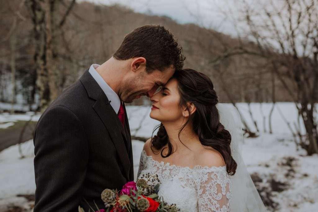 Winter Full Moon Resort Wedding