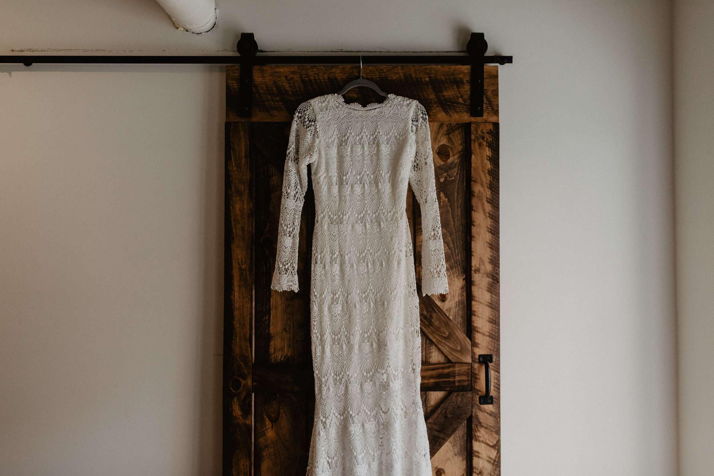 boho wedding gown
